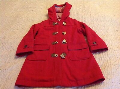 mini boden red duffle coat age  6-7 excellent condition - a fabulous winter coat