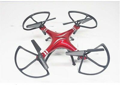 Red New Length 32CM Remote Control Four Axis Aircraft Model Electronic Toy Gift
