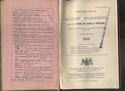 Attack & Defence Of Fortresses Hmso 1896