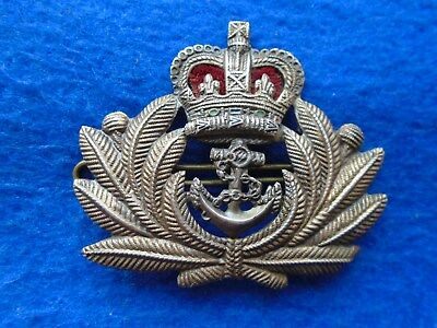 Genuine Erii Royal Navy Officers Active Service Metal Beret  Badge + Pin