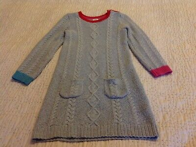 mini boden wool cable dress age 7-8