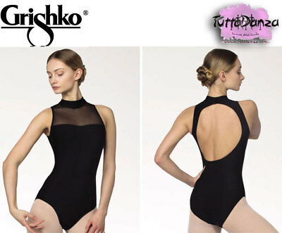Body Grishko Scollo America Danza Classica Ballo Studio Nero Dl1017Mp