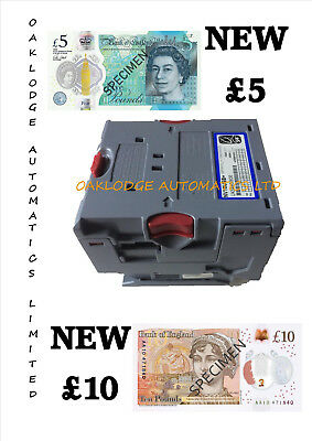 NV10 USB Note Acceptor Accepts NEW £5, £10 Polymer Old £10 & £20