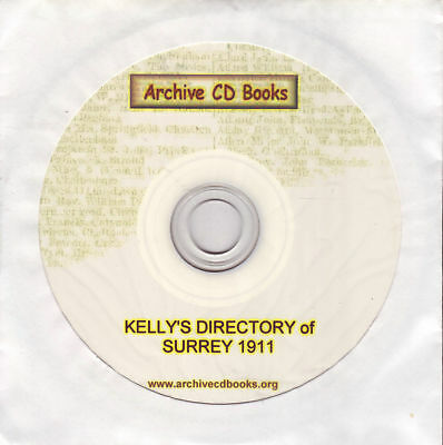 Kelly's 1911 Surrey Street, Trade & County Directory On Cd