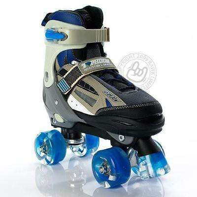 SFR Typhoon Blue/Black Boys Adjustable Quad Roller Skates