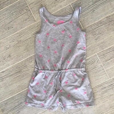 P.S. from aeropostale girls flamingo tank top romper size 7 drawstring waistband