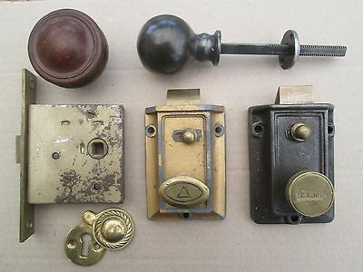 Some Old Vintage Door Locks, Zeni Bolt Latch, Erebus, Steel Handle, Brass Cover