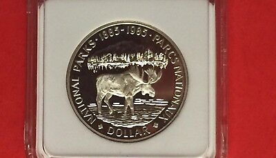 Canada-1985 Uncirculated Silver Dollar Proof Coin ,national Parks .