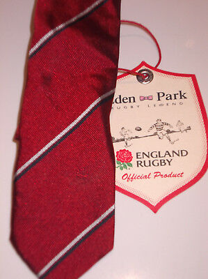 Eden Park Limited Edition Official England Rugby Silk Club Tie, Bnwt Rrp £80