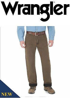 New Wrangler Rugged Wear Thermal jeans Thinsulate® Insulation 3M Men`s 33213NB