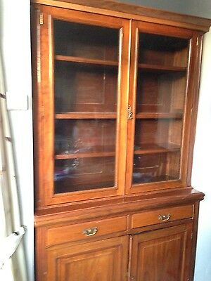 Victorian display cabinet on cupboard