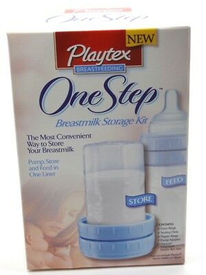 Playtex One Step Breast Milk storage kit BRAND NEW in box FREE SHIPPING complete