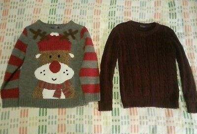 bundle of 2 boy jumpers size 5 years and 5-6 years Christmas