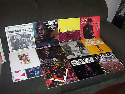 MILES DAVIS 11 LP LOT w KIND OF BLUE, SKETCHES OF SPAIN, AT THE FILLMORE + 2 CDs
