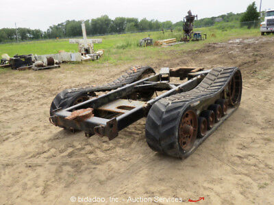 """Off Road Tracked Chassis Assembly 16"""" Tracks Hydraulic Drives bidadoo"""
