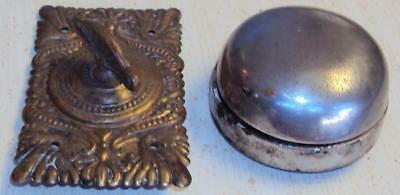 Antique Vintage Door Bell Chime Victorian Turn Twist Brass Salvage Nevada Mo Old