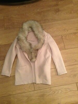 girls riverisland pink jacket size 9/10 years