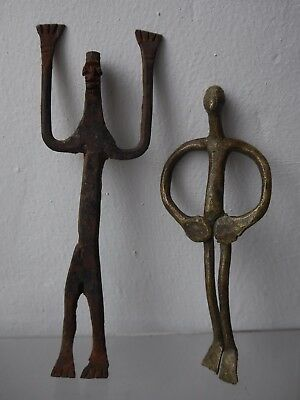 A pair of Dogon metal figures