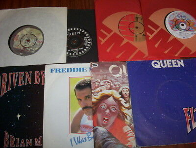 """Queen & related x9 45s""""Sheer Heart Attack & Seven Seas Of Rhye"""" +7 listed l@@k!"""