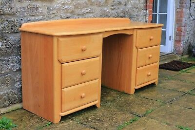 Fabulous Solid Beech Contemporary Desk Lovely Condition