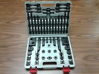 "58pcs/set Clamping Kits Bridgeport,1/2""-13 studs,5/8"" table slots #802-755SC-new"