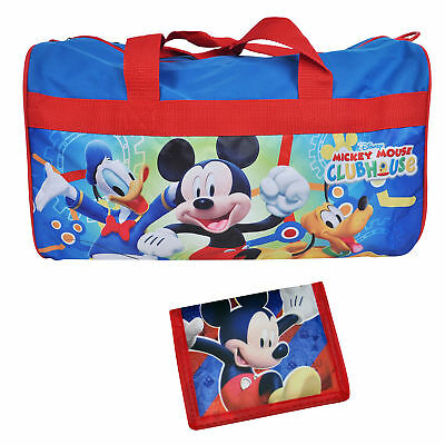 """Mickey Mouse 18"""" Duffel Bag and Mickey Wallet 2Pc Set"""