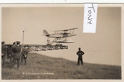 Real Photo DONIFORD nr WATCHET Seaplane taking off at R.A.F. Camp RARE
