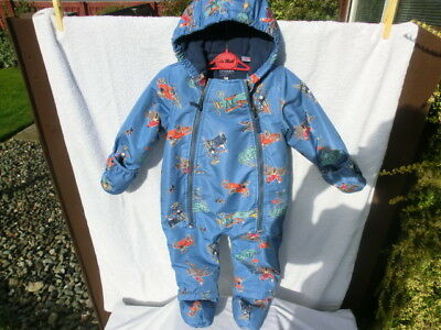 """Joules Windproof Hooded Baby Snowsuit 9-12 Months """"charlie"""""""