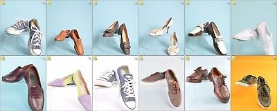JOB LOT OF 23 VINTAGE MIXED SHOES - Mix of Era's, styles and sizes (24649)