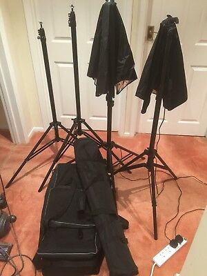 4X Heavy Duty Light Stands/ Constant Light Source Soft Box Diffusion Film Studio