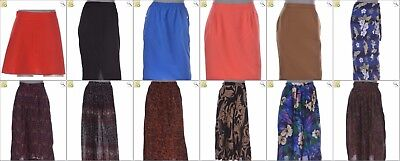 JOB LOT OF 51 VINTAGE MIXED UP-CYLCED SKIRTS - Mix of Era's, styles and sizes