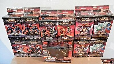 World of Warcraft Miniatures: Starter Set + 10 Booster Boxes (34 Figures Total)