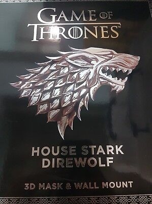 HBO Games of Thrones House Stark Dire wolf 3D Mask and wall mount