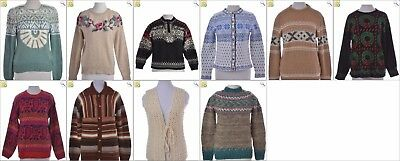 JOB LOT OF 10 VINTAGE NORDIC KNITS - Mix of Era's, styles and sizes (24092)