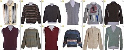 JOB LOT OF 20 VINTAGE MEN'S KNITS - Mix of Era's, styles and sizes (24025)