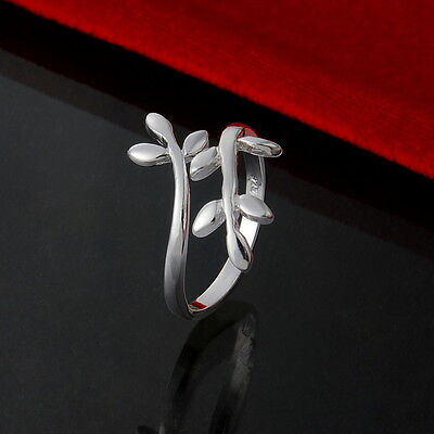 Fashion 925 Sterling Solid Silver Jewelry Charm Ring Women Lady