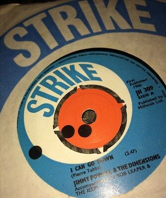"Jimmy Powell And The dimensions .7"".I Can't Go Down.Strike Label.1966.Ex .45rpm."