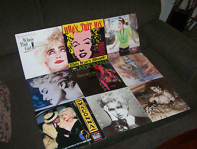 "MADONNA 9 LP & 12"" EP LOT w ANGEL, WHO'S THAT GIRL, LUCKY STAR, LIKE A VIRGIN"