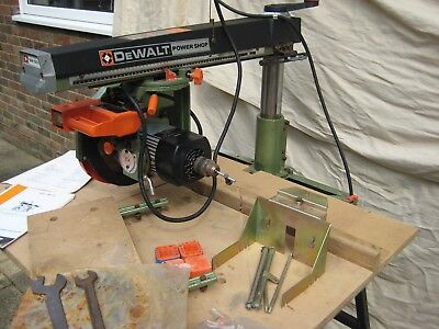 DEWALT RADIAL ARM SAW 240v DW1501 & STAND WITH SHARP TIPPED BLADE
