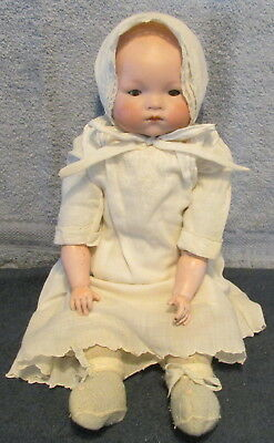 "Antique German Armand Marseille 17"" ""Dream Baby"" Bisque Head/Arms Doll~Glass Eye"
