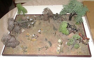 Diorama of WW1 Artillery group 1916 in Flanders