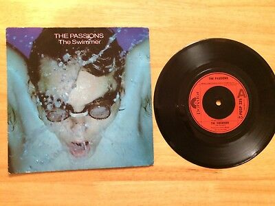 """THE PASSIONS THE SWIMMER 1981 POLYDOR 7"""" UK original issue,"""