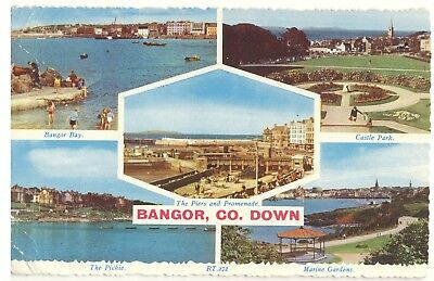 Old Postcard (1964) - Bangor, Co. Down (Various Views) - Posted 2476