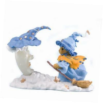 4023637 cherished teddies collection witch flying broom figurine