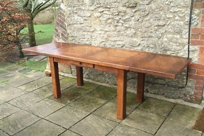 Stunning Solid Oak French Farmhouse Extendable Refectory Table by Antix