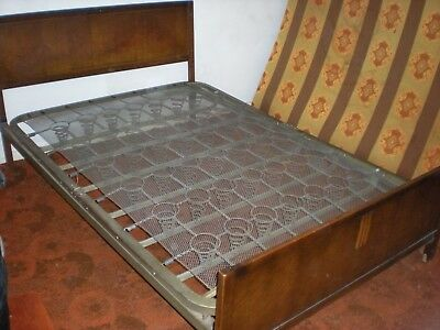 Antique Iron double bed  with wooden Head & Foot Board