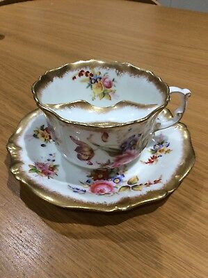 victorian hammersley & co. moustache cup and saucer