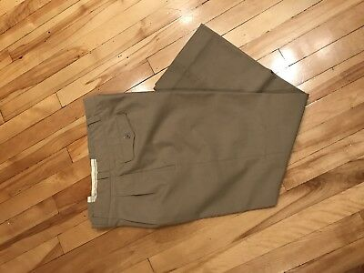 Vintage vtg French Army Military Khaki Chino Trousers W33 1965 Like New