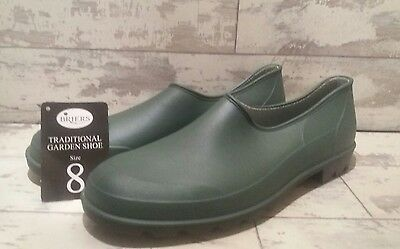 Briers Traditional Garden Footwear Green Wellies Shoes Size 8