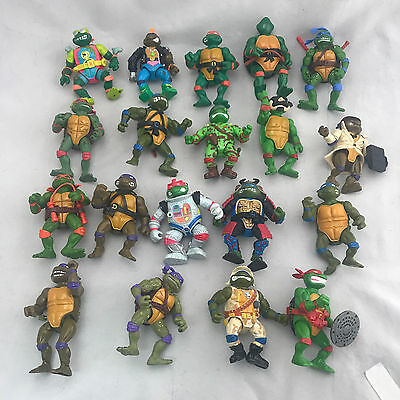 Vintage Teenage Mutant Ninja Turtles & Villains Mixed Lot w Collectors Case